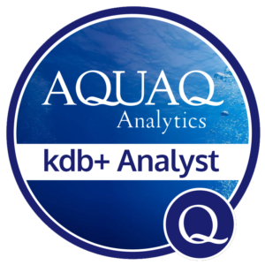 Aqua Q kdb+ Analyst Badge
